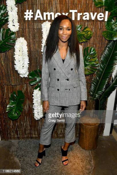 Venus Williams hosts an immersive experience presented by American Express Travel at the Greenwich Hotel on November 7 in New York City