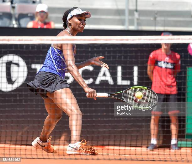 Venus Williams in action during his match against Johanna Konta Internazionali BNL d'Italia 2017 on May 16 2017 in Rome Italy