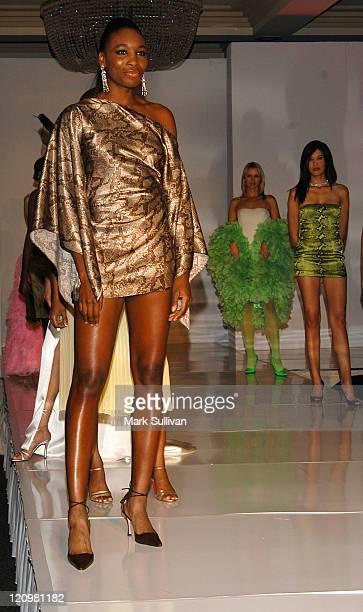 Venus Williams in Aneres designed by Serena Williams