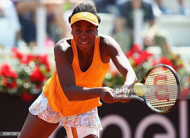 Venus Williams of the United States in action agsint CoCo Vandeweghe of the United States during day two of The Internazionali BNL d'Italia 2016 on...