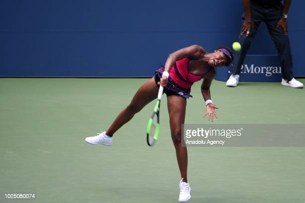 Venus Williams of USA competes against Camila Giorgi of Italy during US Open 2018 tournament in Flushing New York United States on August 29 2018