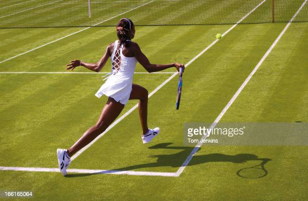 Venus Williams of USA during her match on Court Two on the opening day of the Wimbledon tennis tournament on June 23 2003 in London An image from the...
