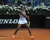 venus williams usa plays shot during