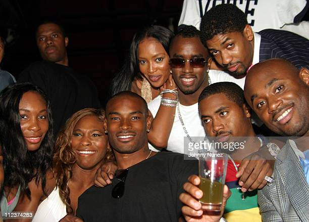 Venus Williams Serena Williams Tyson Beckford Naomi Campbell Sean 'P Diddy' Combs Nas Fonzworth Bentley and Steve Stoute