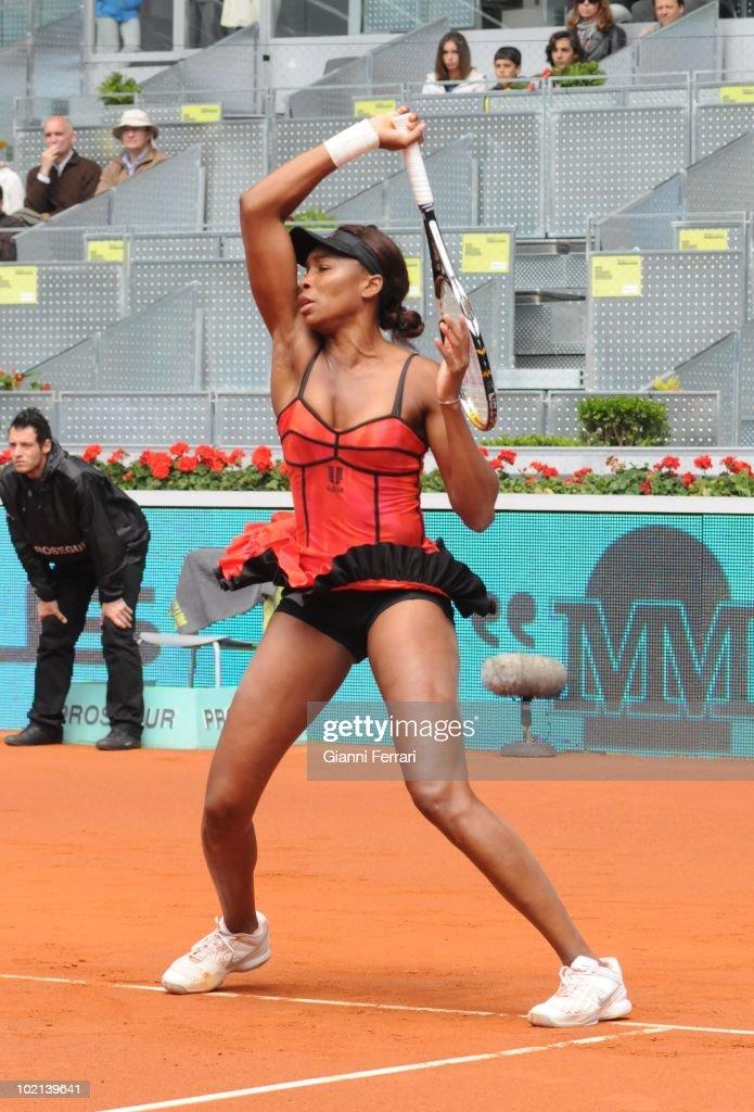 Venus Williams, USA, tennis in 'Mutua Madrilena Madrid Open' , 8th May 2010, in 'La Caja Magica'. Madrid, Spain.