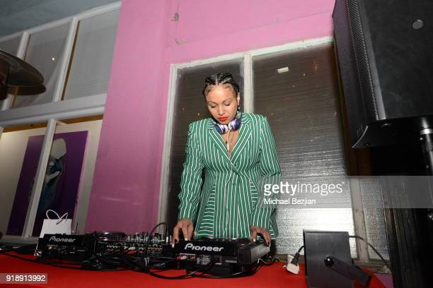 Venus X attends Amare Stoudemire hosts ART OF THE GAME art show presented by Sotheby's and Joseph Gross Gallery on February 15 2018 in Los Angeles...