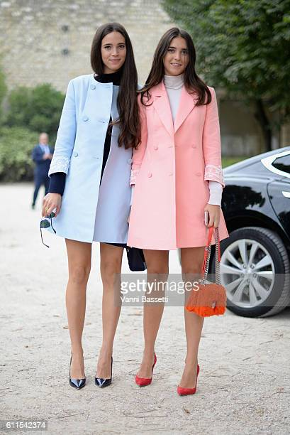 Vera Arrivabene and Viola Arrivabene arrive at the Christian Dior show as part of the Paris Fashion Week Womenswear Spring/Summer 2017 on September...