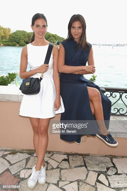 Vera Arrivabene and Viola Arrivabene attend an intimate lunch hosted by Livia Firth Carlo Capasa and Caroline Scheufele to announce Chopard as...