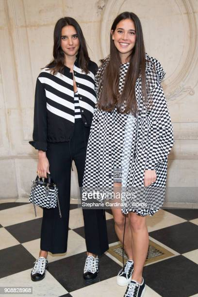Vera Arrivabene and Viola Arrivabene attend the Christian Dior Haute Couture Spring Summer 2018 show as part of Paris Fashion Week January 22 2018 in...