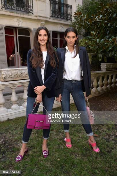 Vera Arrivabene and Viola Arrivabene attend the Roger Vivier Presentation Spring/Summer 2019 during Paris Fashion Week on September 27 2018 in Paris...