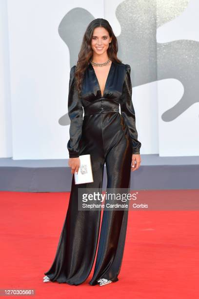 """Vera Arrivabene walks the red carpet ahead of the Opening Ceremony and the """"Lacci"""" red carpet during the 77th Venice Film Festival at on September..."""
