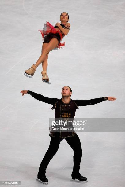 Vera Bazarova and Yuri Larionov of Russia perform in the Paris Free Skating during day two of Trophee Eric Bompard ISU Grand Prix of Figure Skating...