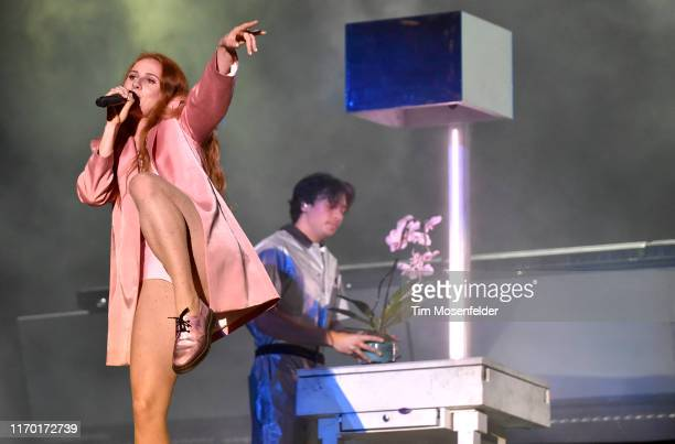 Vera Blue and Flume perform during 2019 Lollapalooza at Grant Park on August 04 2019 in Chicago Illinois