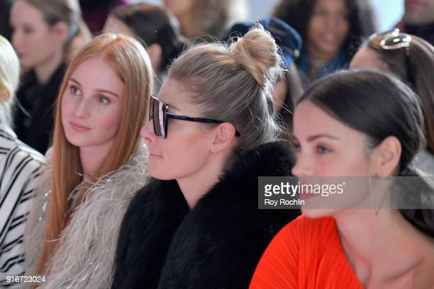 Vera Blue Jessica Hart and Sofia Resing attends the alice McCALL fashion show during New York Fashion Week The Shows at Industria Studios on February...