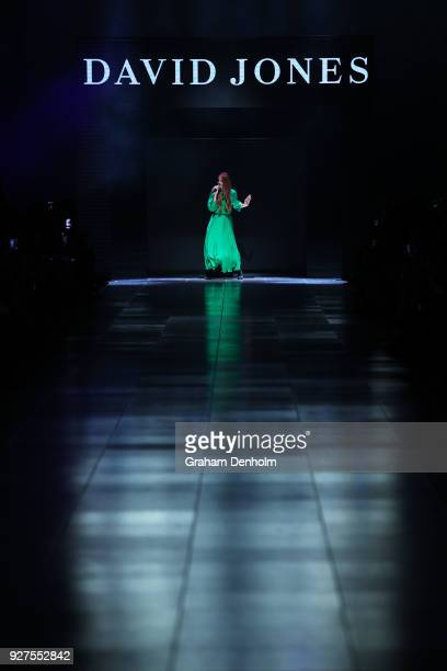 Vera Blue performs during VAMFF Runway Gala Presented by David Jones on March 5 2018 in Melbourne Australia