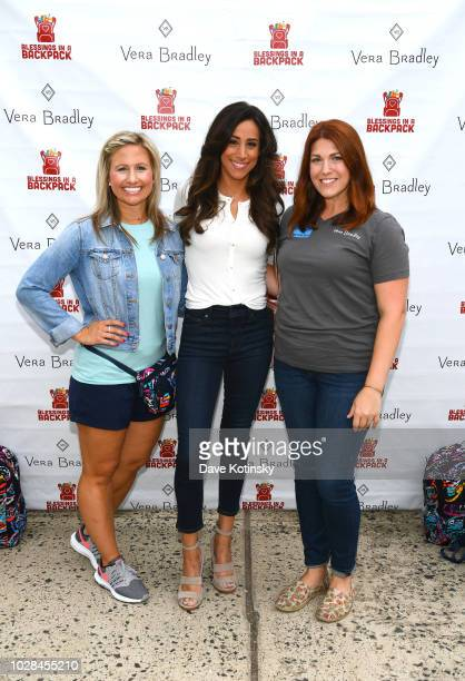 Vera Bradley Public Relations Manager Holly Wagner Social Influencer Danielle Jonas and Blessings in a Backpack Communications Manager Robin Rueff...