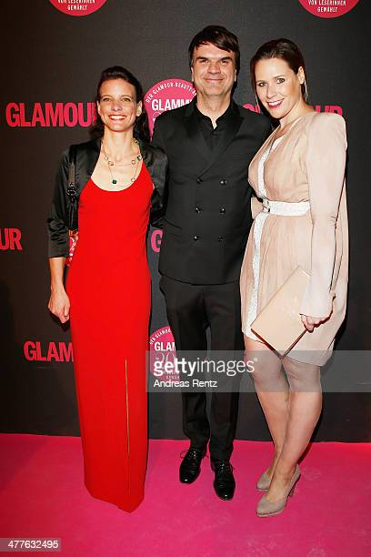 Vera Breuer , Andre Pollmann and Karen Dahl attend the Glammy Award by Glamour Magazine on March 6, 2014 in Munich, Germany.