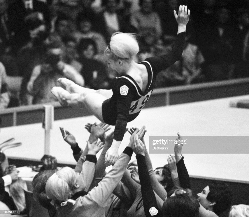Olympic Gymnast Vera Caslavska : ニュース写真