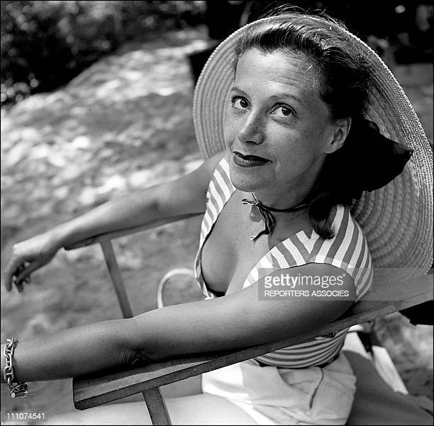 Vera Clouzot on the set in France in 1953