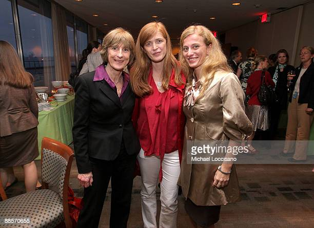 "Vera Delaney, daughter, Author Samantha Power and Film Subject Carolina Larriera attend the HBO documentary screening of ""Sergio"" at United Nations..."