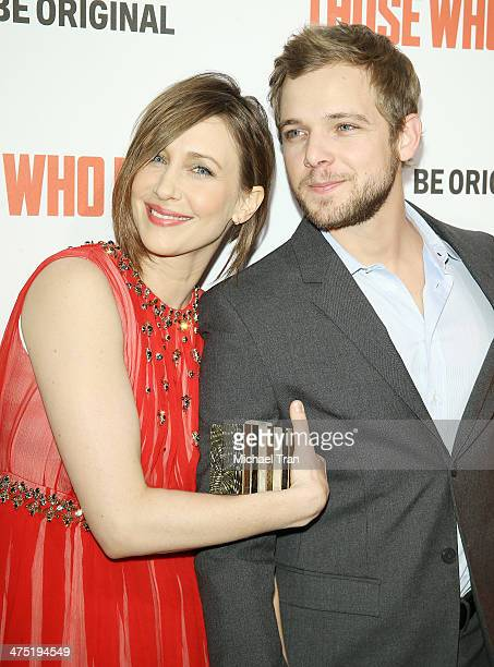 Vera Farmiga and Max Thieriot arrive at the premiere party for AE's season 2 of 'Bates Motel' and series premiere of 'Those Who Kill' held at Warwick...