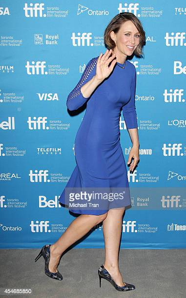 Vera Farmiga arrives at the photo call of The Judge held during the 2014 Toronto International Film Festival Day 2 on September 5 2014 in Toronto...