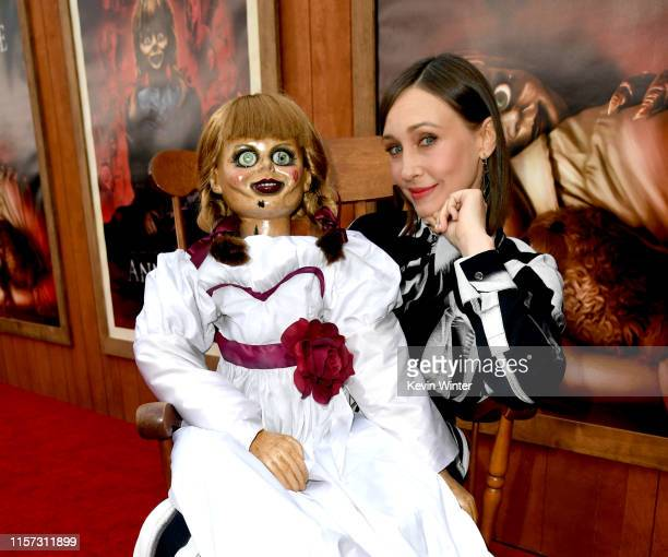 "Vera Farmiga arrives at the premiere of Warner Bros. Pictures and New Line Cinema's ""Annabelle Comes Home"" at Regency Village Theatre on June 20,..."