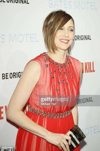 Vera Farmiga arrives at the premiere party for AE's season 2 of 'Bates Motel' and series premiere of 'Those Who Kill' held at Warwick on February 26...