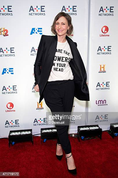 Vera Farmiga attends AE Network's 2015 Upfront at Park Avenue Armory on April 30 2015 in New York City