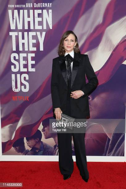 "Vera Farmiga attends the premiere of ""When They See Us"" at The Apollo Theater on May 20, 2019 in New York City."