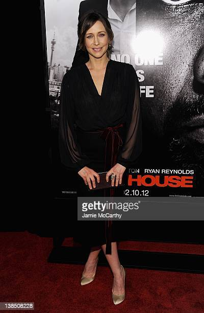 "Vera Farmiga attends the ""Safe House"" premiere at the SVA Theater on February 7, 2012 in New York City."
