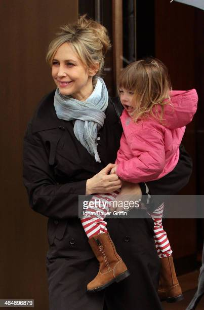 Vera Farmiga is seen with her daughter Gytta Hawkey on March 19 2013 in New York City