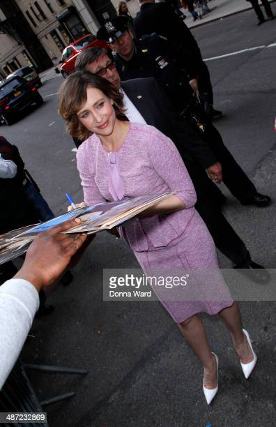 Vera Farmiga leaves the 'Late Show with David Letterman' at Ed Sullivan Theater on April 28 2014 in New York City