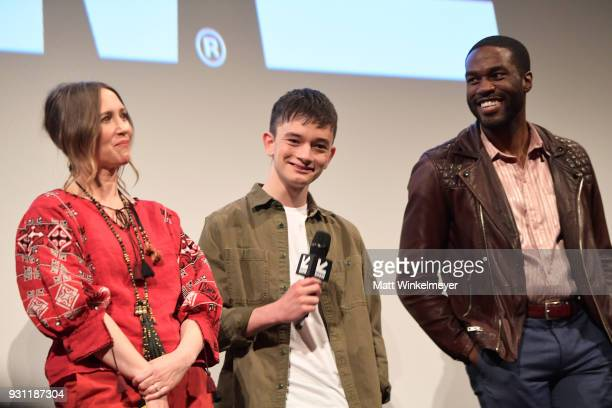 Vera Farmiga Lewis MacDougall and Yahya AbdulMateen II attend the 'Boundaries' Premiere 2018 SXSW Conference and Festivals at Paramount Theatre on...