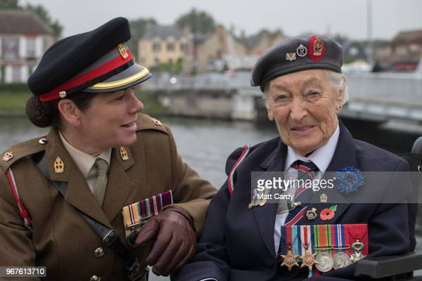 Vera Hay who was a nursing sister in the Queen Alexandra's Imperial Military Nursing Service and landed on Gold Beach shortly after DDay talks with...