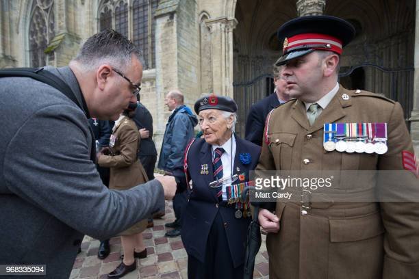 Vera Hay who was a nursing sister in the Queen AlexandraÕs Imperial Military Nursing Service and landed on Gold Beach shortly after DDay leaves a...