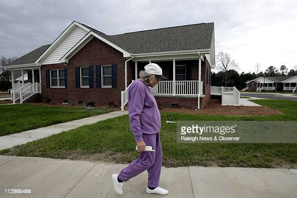 Vera Hunt walks through the new Heritage Haven apartment complex January 4 in Fairmont North Carolina The complex was built on the site of a former...