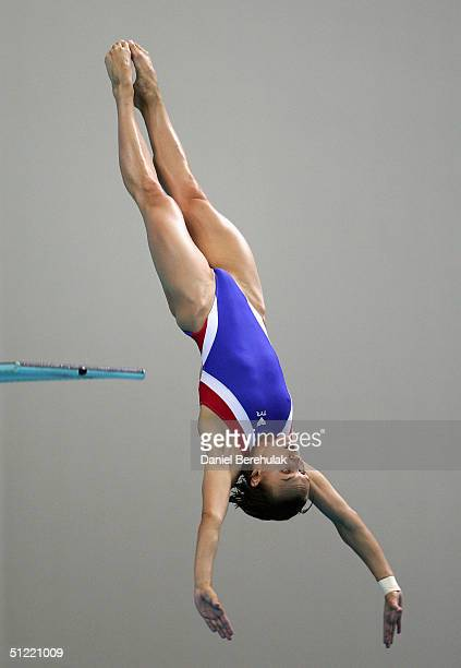 Vera Ilyina of Russia competes in the women's diving 3 metre springboard semifinal event on August 26 2004 during the Athens 2004 Summer Olympic...