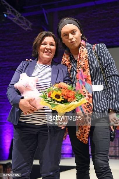 Vera IntVeen and Julian F M Stoeckel during the plus size model award show 'Fraeulein Kurvig' at Kunstwerk Moechengladbach on September 1 2018 in...