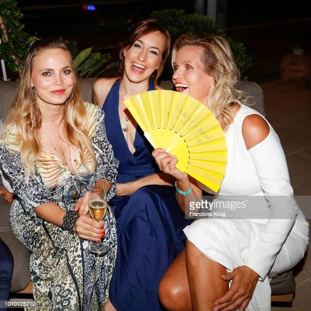 Vera IntVeen Regina Halmich Maike von Bremen and Carola Ferstl during the Remus Lifestyle Night on August 2 2018 in Palma de Mallorca Spain