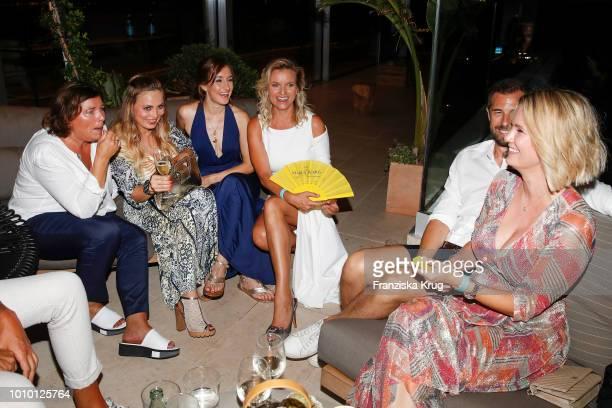 Vera IntVeen Regina Halmich Maike von Bremen Carola Ferstl Monica Ivancan and her husband Christian Meier during the Remus Lifestyle Night on August...