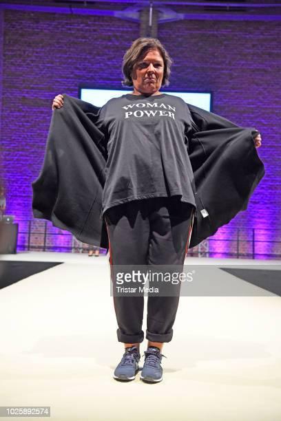 Vera IntVeen walks the runway during the plus size model award show 'Fraeulein Kurvig' at Kunstwerk Moechengladbach on September 1 2018 in...
