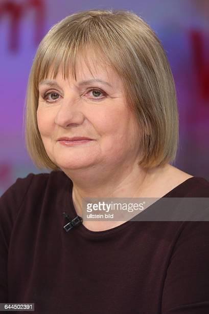 Vera Lengsfeld in der ZDFTalkshow Maybrit_Illner am in BerlinThema der Sendung Fachkraft oder Flüchtling Wer darf ins Wirtschaftswunderland