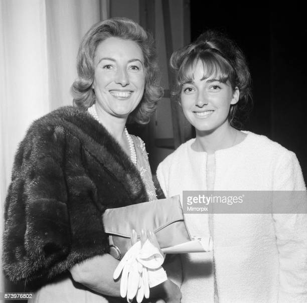 Vera Lynn and her daughter Virginia attend the premiere of 'Camelot' at the Theatre Royal, 20th August 1964.