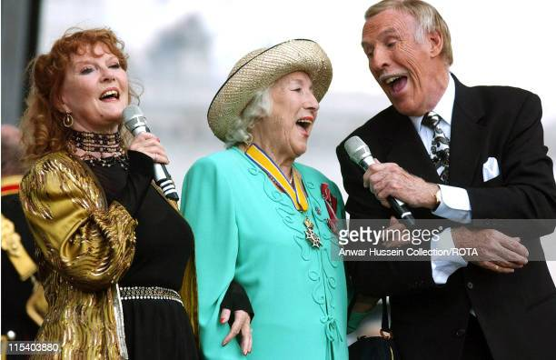 Vera Lynn joins Petula Clark and Bruce Forsyth for a rendition of 'We'll Meet Again' during the 'Recollections of World War II Commemoration Show' an...
