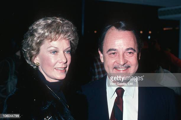 Vera Miles and John Hillerman during 'The High Road to China' Los Angeles Premiere at Westwood Village Theater in Westwood California United States