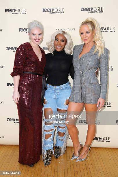 Vera Papisova Jackie Aina and Gigi Gorgeous attend The Teen Vogue Summit 2018 Serena Williams and Naomi Wadler at 72andSunny on December 1 2018 in...