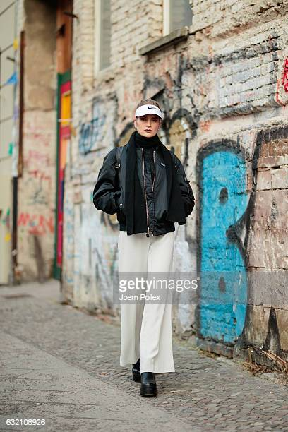 Vera poses for photos during the MercedesBenz Fashion Week Berlin A/W 2017 at Kaufhaus Jandorf on January 19 2017 in Berlin Germany