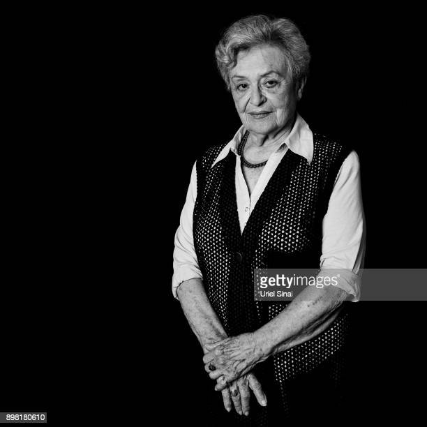 Vera Rosenzweig 83 years old born in Slovakia is photographed December 25 2009 in Bnei Zion Israel She was tattooed with #A2074 at the Auschwitz...