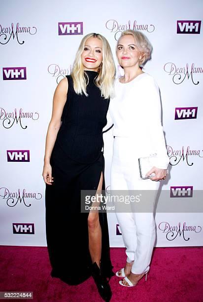 Vera Sahatciu and Rita Ora attends the VH1 Dear Mama taping at St Bartholomew's Church on May 3 2016 in New York City